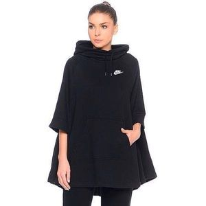 Nike Black Fleece Funnel Neck Poncho